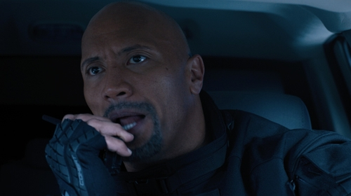 Dwayne Johnson with Under Armour Flux Half-Finger Gloves in The Fate of the Furious