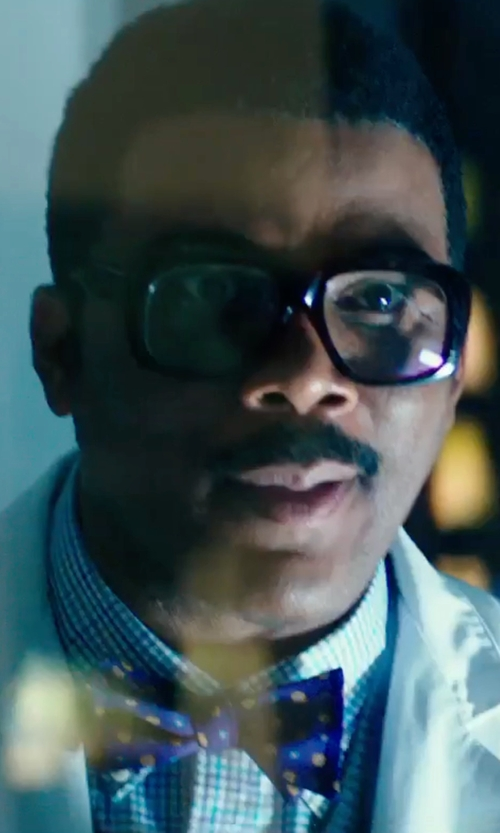 Tyler Perry with Michael Kors Blueberry Check Dress Shirt in Teenage Mutant Ninja Turtles: Out of the Shadows