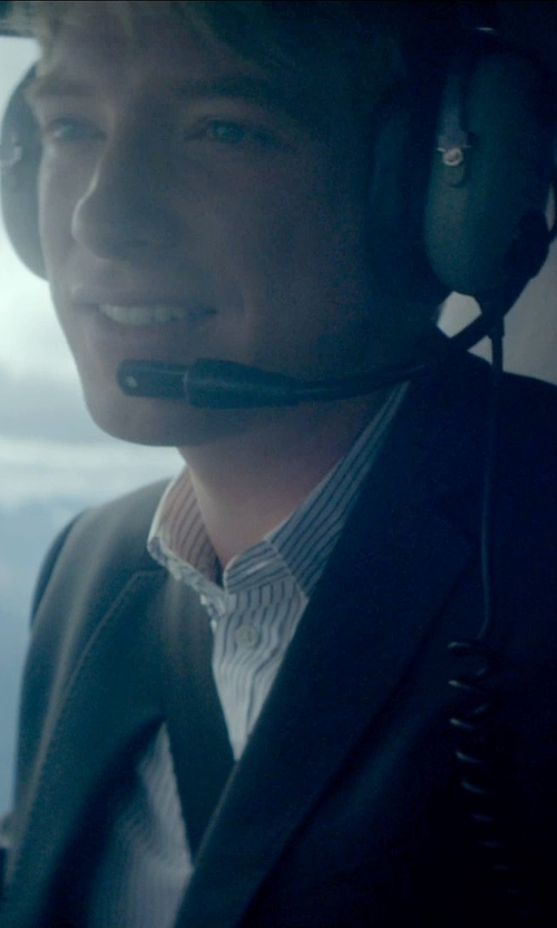 Domhnall Gleeson with David Clark Aviation Headset in Ex Machina