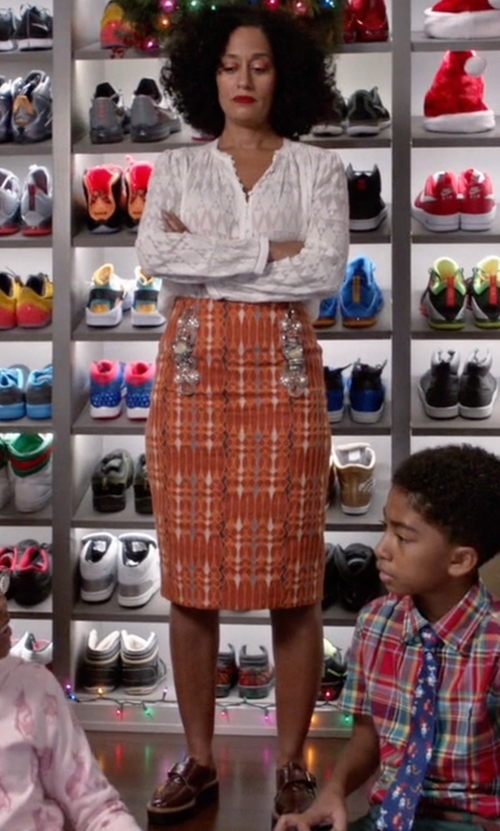 Tracee Ellis Ross with Ecco Clay Monk Strap Shoes in Black-ish