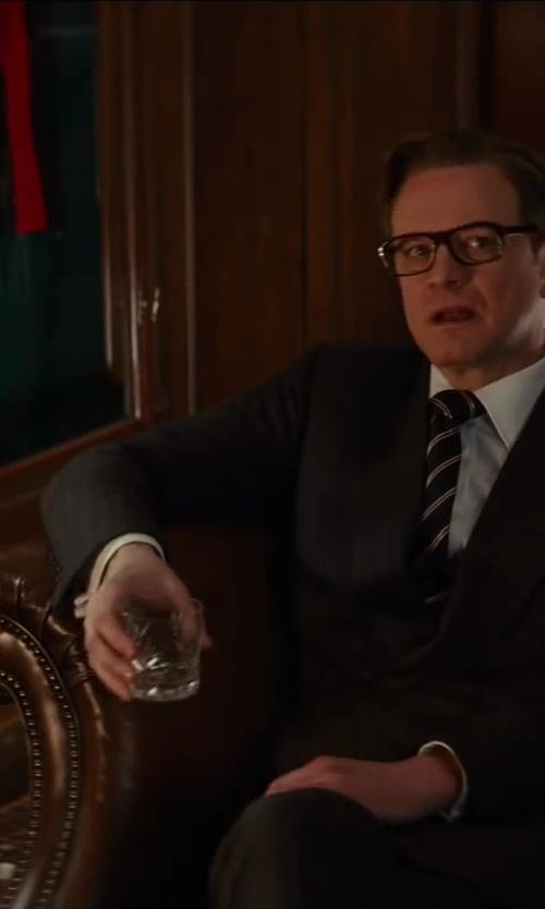 Colin Firth with Simon Pearce Ascutney Whiskey Glass in Kingsman: The Secret Service