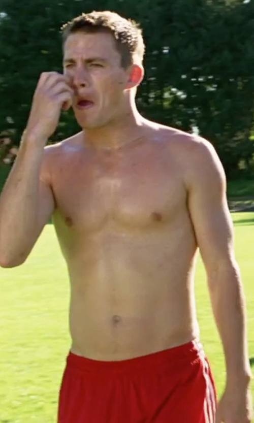 Channing Tatum with Adidas Performance Triple Up Shorts in She's The Man