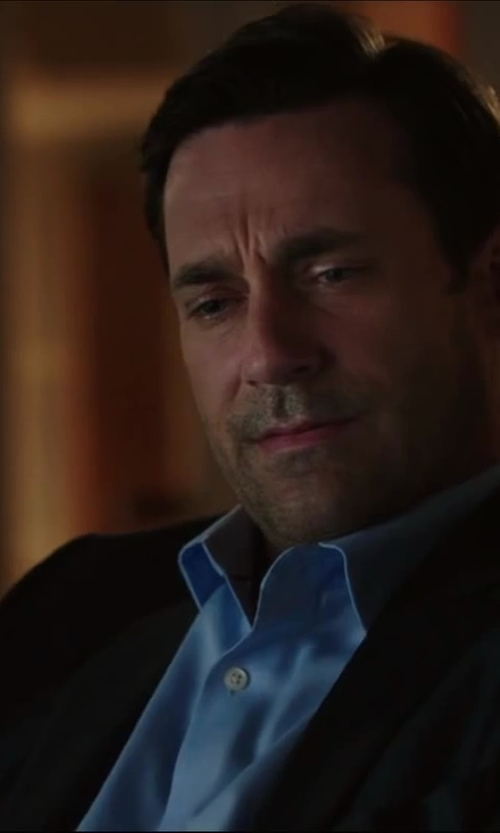 Jon Hamm with ERMENEGILDO ZEGNA Diagonal Twill Dress Shirt in Million Dollar Arm