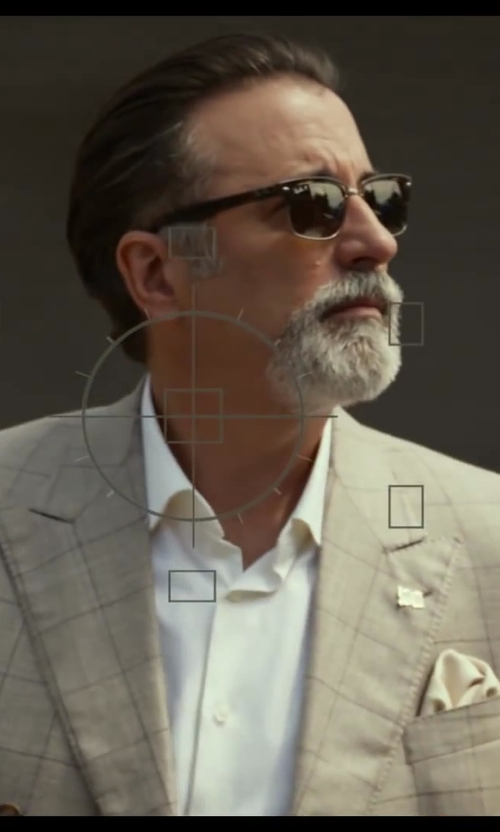 Andy Garcia with Ray-Ban Clubmaster Folding Polarized Sunglasses in Let's Be Cops