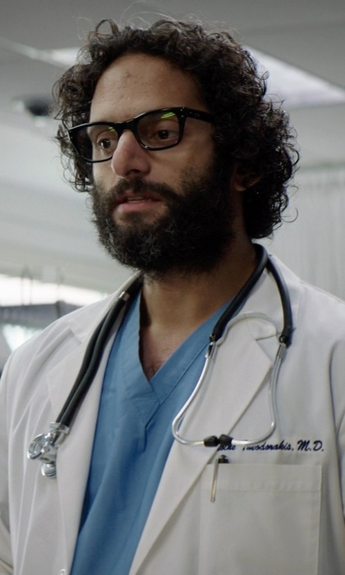 Jason Mantzoukas with Oliver Peoples NDG-1 Optical Glasses in Neighbors