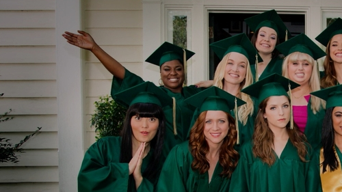 Ester Dean with Jostens Custom Graduation Cap & Gown in Pitch Perfect 2