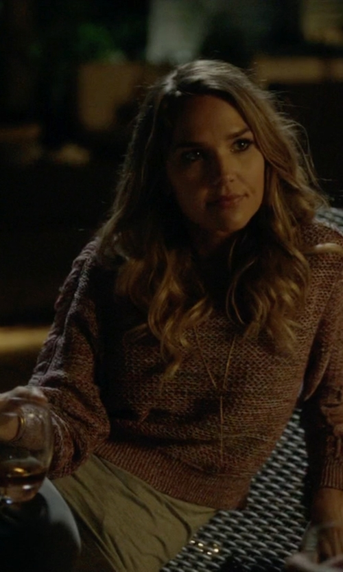 Arielle Kebbel with Velvet by Graham & Spencer Babs Cotton Slub Tank Top in Ballers