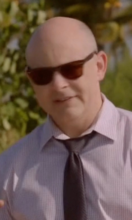 Rob Corddry with Ray-Ban Classic Wayfarer Sunglasses in Ballers