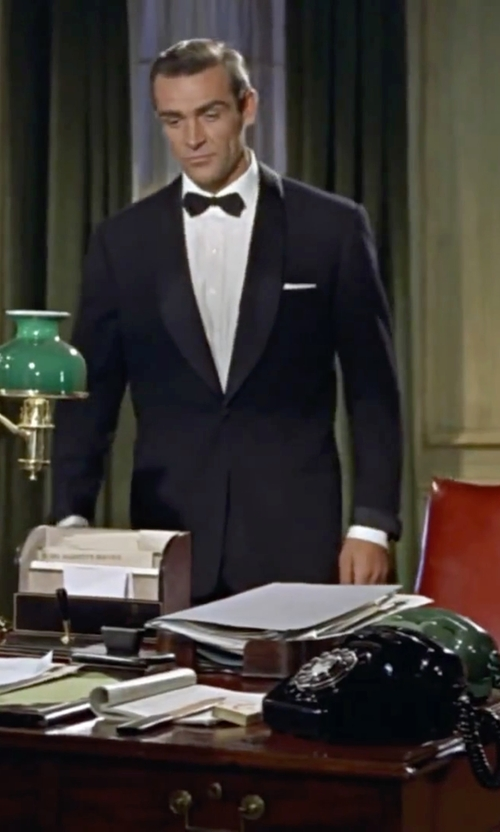 Sean Connery with John W. Nordstrom French Cuff Tuxedo Shirt in Dr. No