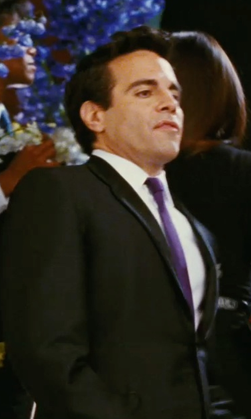 Mario Cantone with Ralph Lauren Satin Tie in Sex and the City