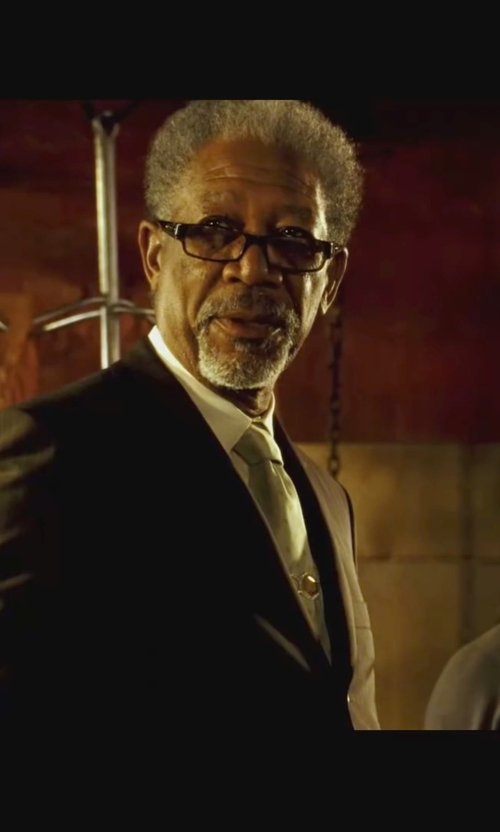 Morgan Freeman with Spy Elijah Rectangular Eyeglasses in Wanted