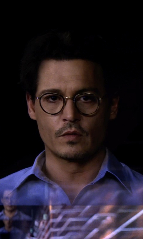Johnny Depp with Oliver Peoples MP-2 RX in DTB / Antique Gold in Transcendence