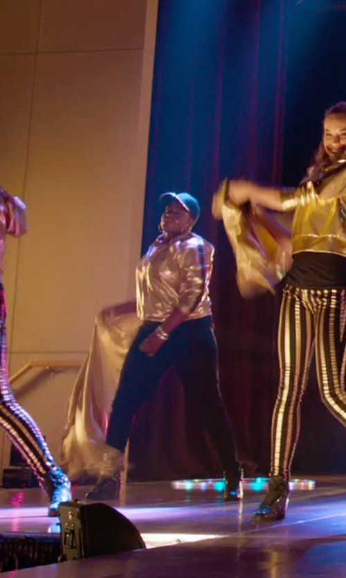 Ester Dean with Loft Tuxedo Slim Ankle Pants In Julie Fit in Pitch Perfect 2