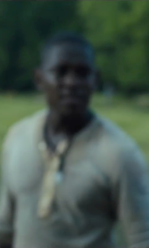 Aml Ameen with Pierce this 2 Surgical Steel With Tribal Design Necklace in The Maze Runner