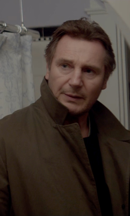 Liam Neeson with Jack Spade Bonded Trench Coat in A Walk Among The Tombstones