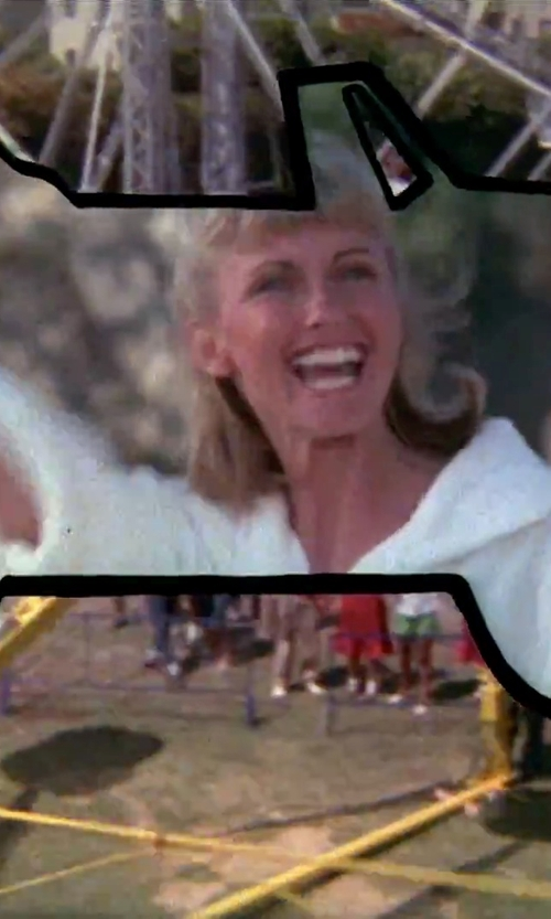Olivia Newton-John with Nordstrom Waffle Cotton Robe in Grease