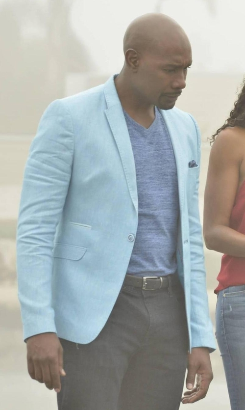 Morris Chestnut with Faconnable Notch Lapel Virgin Wool-Silk Sportcoat in Rosewood