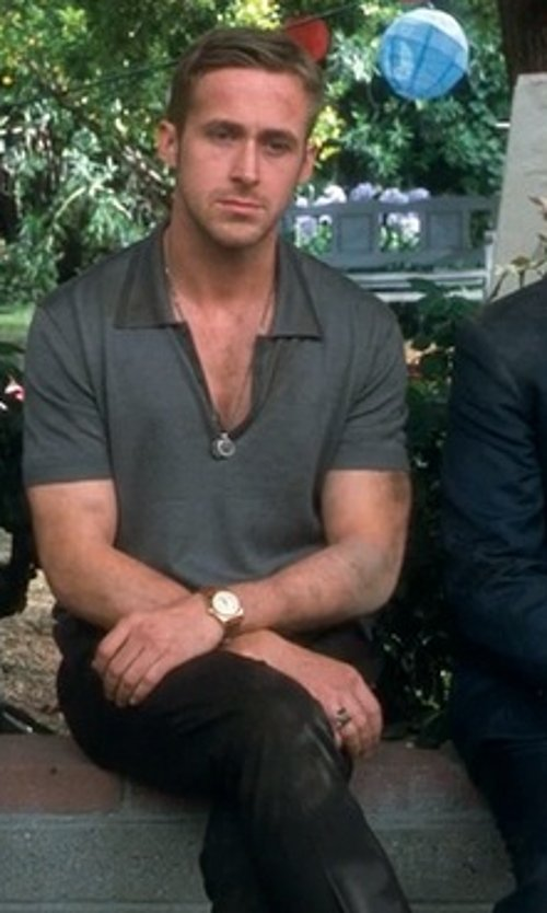Ryan Gosling with Lacoste Classic Fit Gabardine Chinos in Crazy, Stupid, Love.