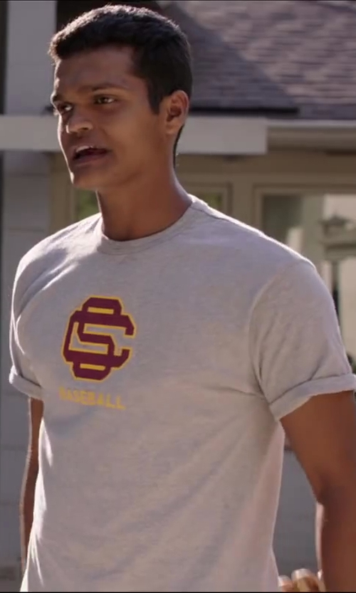 Madhur Mittal with Nike USC Trojans Logo Legend Tee - Men in Million Dollar Arm
