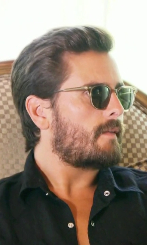 Scott Disick with Garrett Leight  Wellesley Sunglasses in Keeping Up With The Kardashians