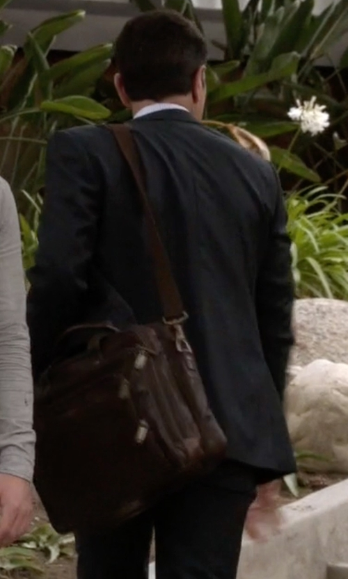 Ty Burrell with Mcklein Irving Park Leather Laptop Case in Modern Family