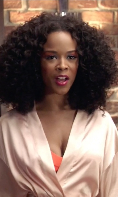 Serayah with La Perla Dolce Short Robe in Empire