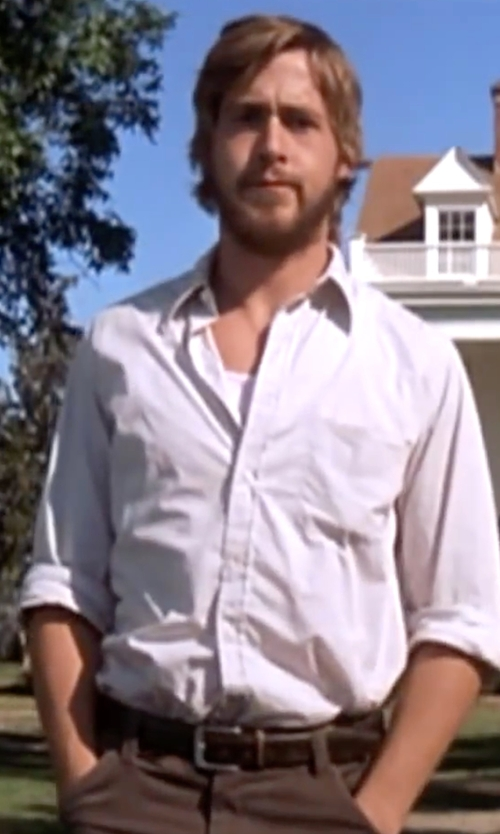 Ryan Gosling with Trafalgar  'Angelo' Leather Belt  in The Notebook