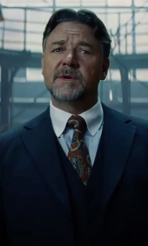 Russell Crowe with Pal Zileri Modern-Fit Wool Suit in The Mummy