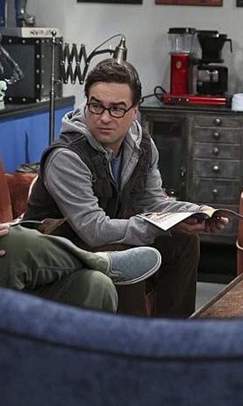 Johnny Galecki with Original Penguin Slub Hoodie Jacket in The Big Bang Theory