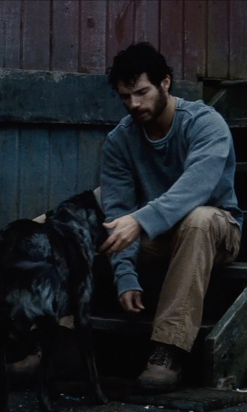 Henry Cavill with Eastland Made In Maine Readfield USA Boots in Man of Steel