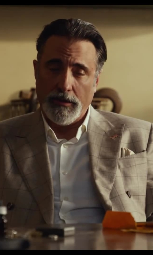 Andy Garcia with Hugo Boss Jenno Slim Fit Herringbone Dress Shirt in Let's Be Cops
