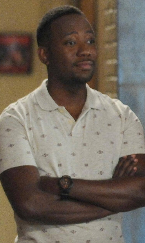 Lamorne Morris with Momentum Watch Night Vision Rubber Watch in New Girl