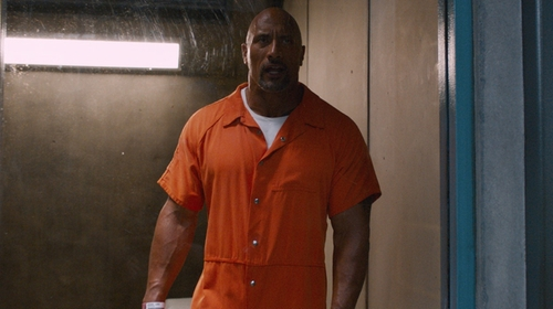Dwayne Johnson with Bob Barker Tristitch Jumpsuit in The Fate of the Furious
