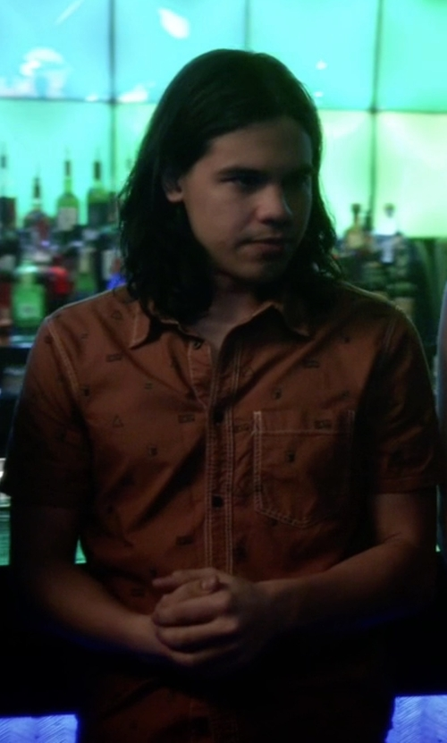 Carlos Valdes with Etro Gazebo-Print Linen Shirt in The Flash