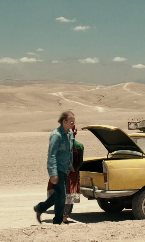 Bill Murray with Love Moschino Straight Leg Denim Pants in Rock The Kasbah