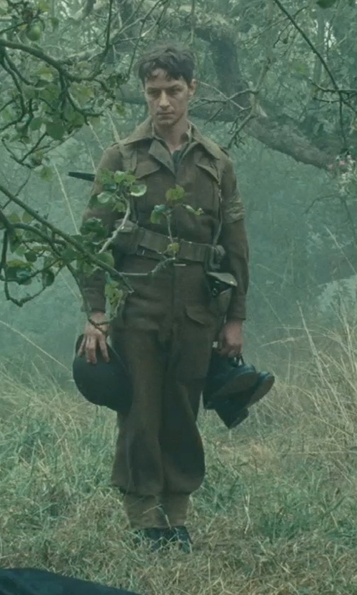 James McAvoy with Jacqueline Durran (Costume Designer) Custom Made Military Uniform in Atonement