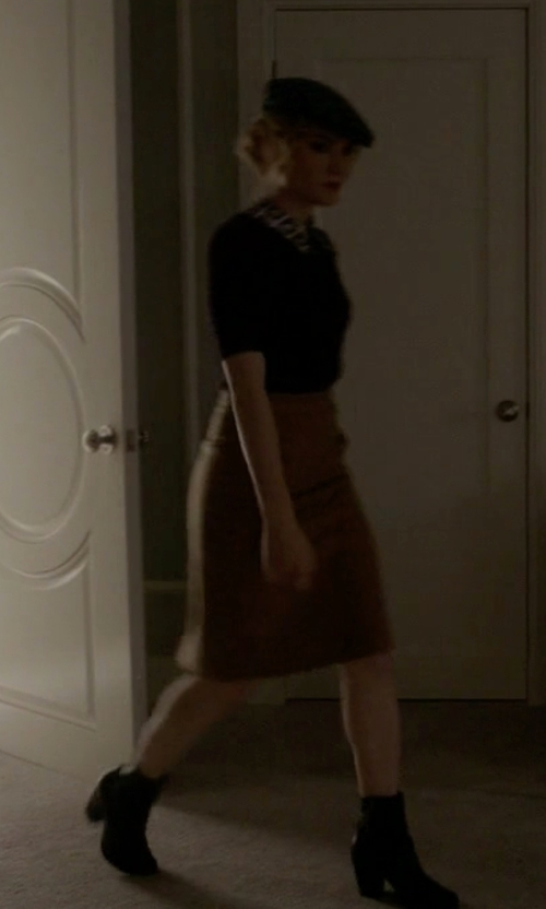 Skyler Samuels with Rag & Bone Classic Newbury Booties in Scream Queens