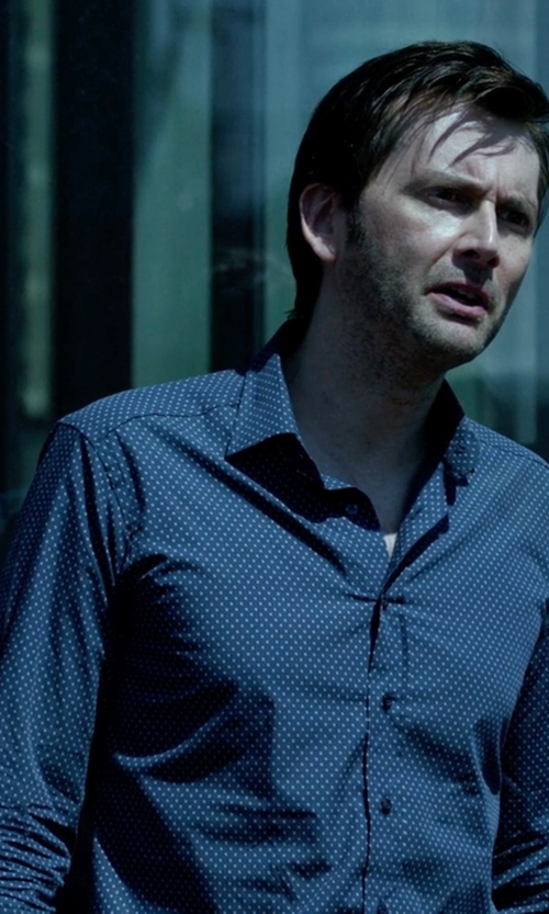 David Tennant with Ted Baker London Targetz Modern Slim Fit Sport Shirt in Jessica Jones