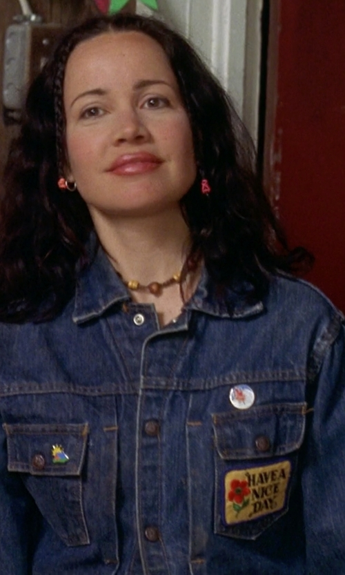 Janeane Garofalo with Charter Club Antique Denim Jacket in Wet Hot American Summer