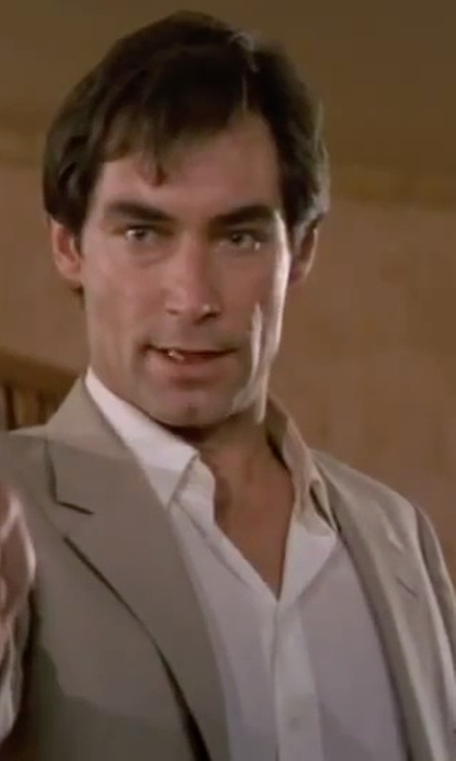 Timothy Dalton with Canali Basic Dress Shirt in The Living Daylights