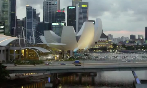 Unknown Actor with ArtScience Museum Singapore in Hitman: Agent 47