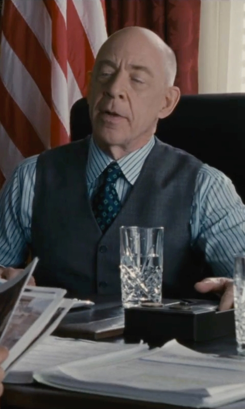 J.K. Simmons with Lino Caracciolo Suit Vest in The Accountant