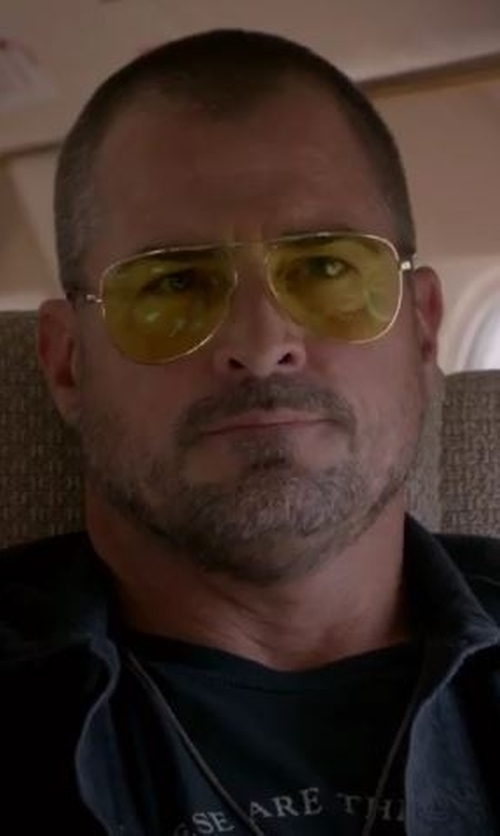 George Eads with Ray-Ban Aviator Sunglasses in MacGyver