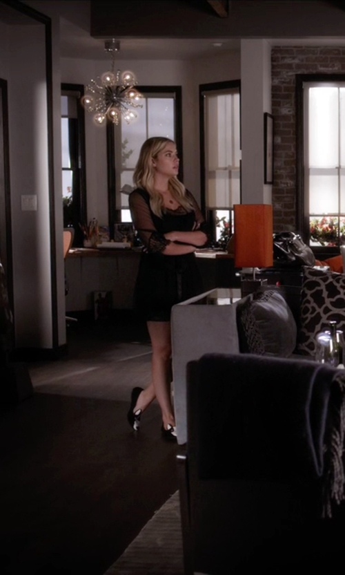 Ashley Benson with Marc by Marc Jacobs Black & White Suede Neville Loafers in Pretty Little Liars