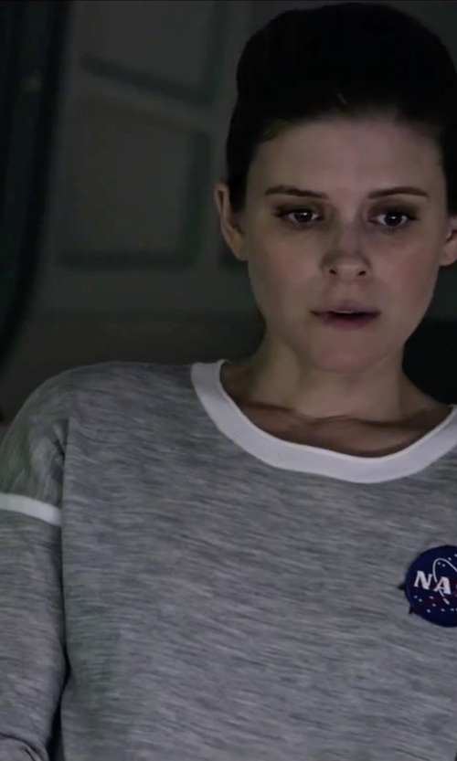 Kate Mara with Alo Yoga Glimpse Long-Sleeve Top in The Martian