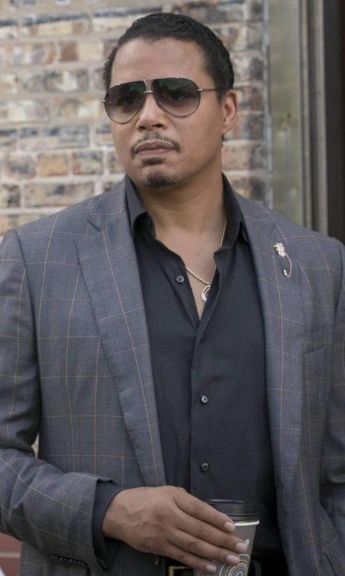 Terrence Howard  with Corneliani Windowpane Sportcoat in Empire