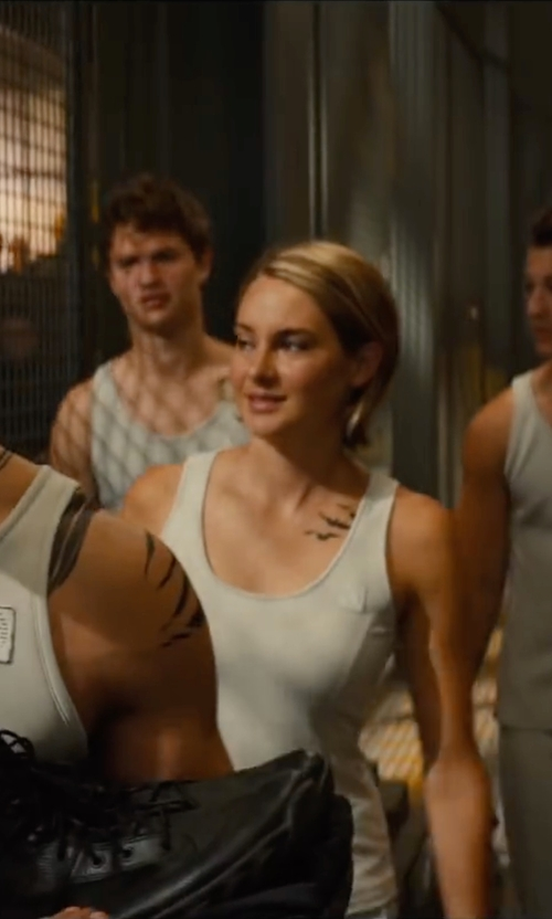 Shailene Woodley with Marlene Stewart (Costume Designer) Custom Made Tank Top (Tris) in The Divergent Series: Allegiant