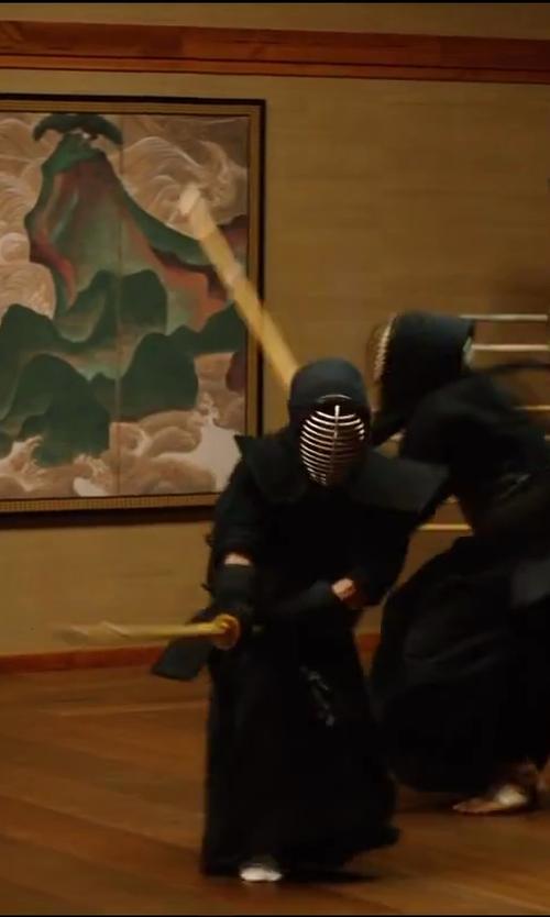 Hiroyuki Sanada with TMAS Kendo Set in The Wolverine