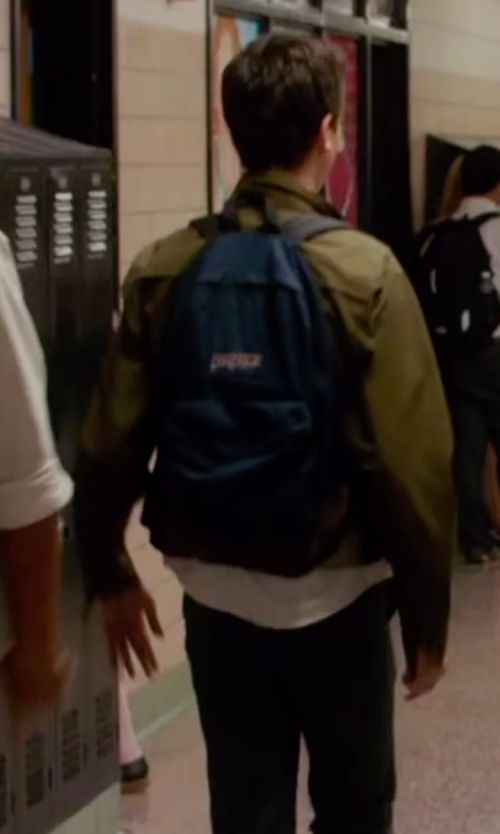 Nat Wolff with Jansport Right Pack Backpack in Ashby