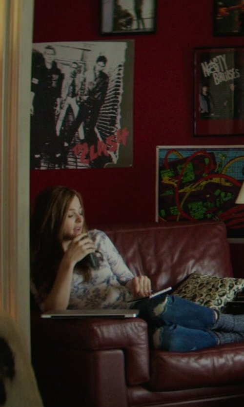 Chloë Grace Moretz with The Clash First Album Cover Poster in If I Stay